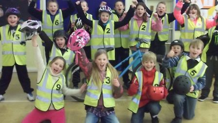 Bikeability students at Mary Elton Primary School
