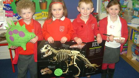 Oliver, Molly, Ben and Clara at St Peter's Primary School