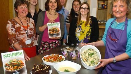 Doctors launching new cookery book created by the charity