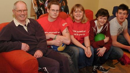 Sarah Johnston pictured with youngsters