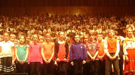 The MAWS concert featured schoolchildren from across North Somerset