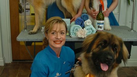 Three dogs qualified for Crufts with Carolyn Price proprietor, Claire Brokenbrow and Emily Harnaraya