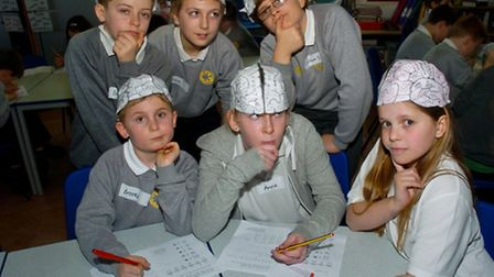 Year six pupils brain workshop.