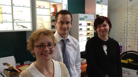 The winning team at Lynne Fernandes Optometrists in Nailsea.