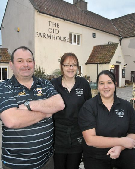 Land lord Eric 'Monty' Montgomery and Managers Claire Smith and Claire Whitemore.