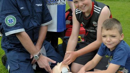 Mike showed off his skills to youngsters in Cleeve last year at a community event