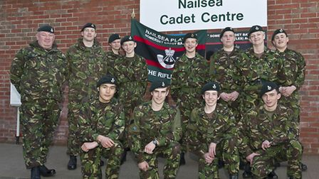 Nailsea Army Cadets at their new home.