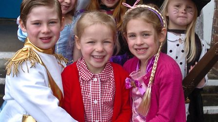 Children dressed for fairytale day.