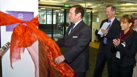 Ed Vaizey MP Minister for Culture pictured during his visit to Weston to open the Town Hall and Libr
