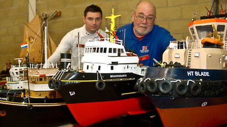 Barry model makers club members John Pearce and Dave Edsell.