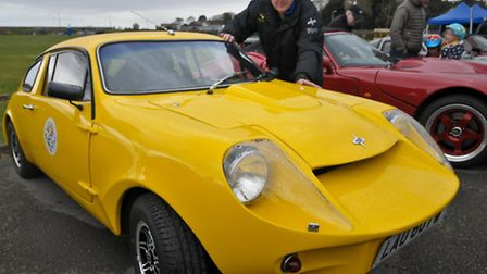 Andy Roberts and his 1980 Mini Marcos.