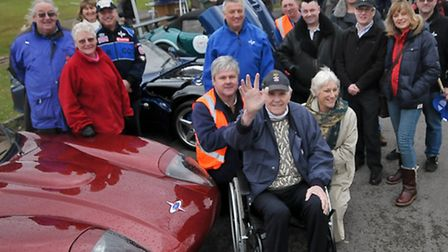 Marcos Cars owners club and enthusiasts with their cars and special guest Marcos founder Jem Marsh,