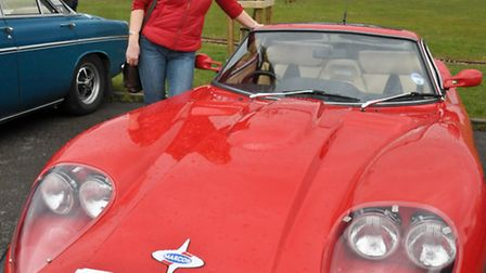Jane Neve with her 3 Ltr Coupe.