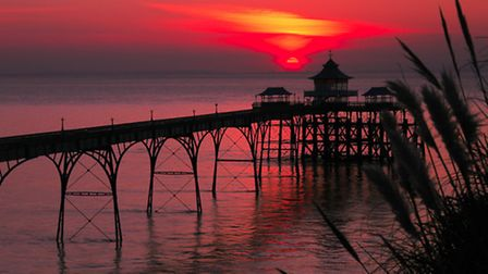 iwitness24 picture by Carol Pike. Sunset over Clevedon Pier.