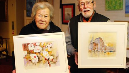 Art exhibition and sale at The Hawthorns Retirement Village in Clevedon, run by the Lions Club of Cl