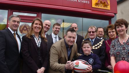 England World cup rugby player Mark Regan pictured to promote Avery 25th anniversary.