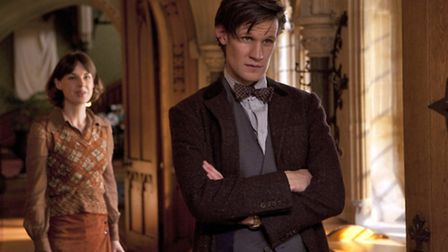 Dr Who star Matt Smith in a scene from the episode filmed at Tyntesfield