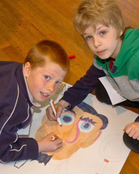Children enjoying the Easter holiday club activities.