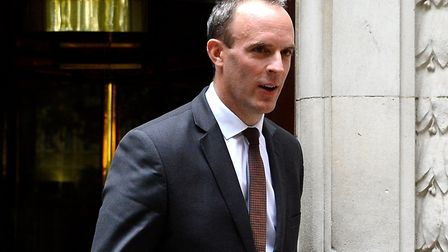 Dominic Raab admitted No Deal would bring about risks to the UK. Picture: Kirsty O'Connor/PA Wire