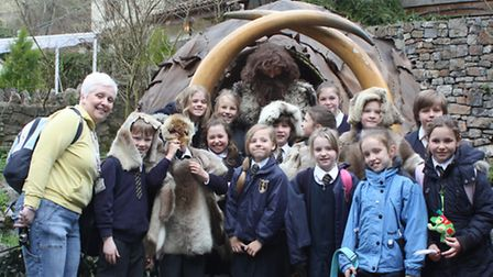 St Joseph's Primary School pupils at Cheddar Gorge