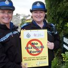 No Cold Calling Signs, PCSOs Elle Hicks and Kate Turner.