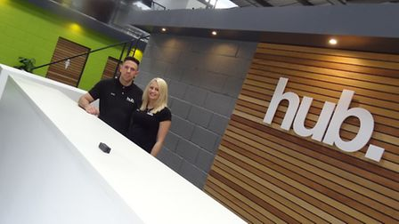 Andy and Claire Cleeves at The Fitness Hub