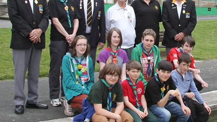 Ashcombe Park bowlers with local Scouts.