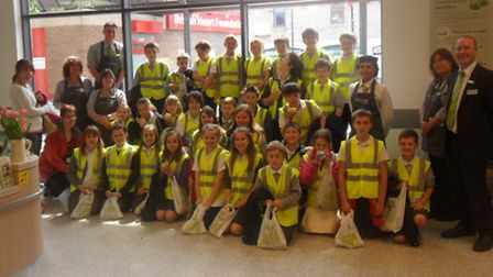 Golden Valley Primary School pupils enjoyed lessons in healty eating at Waitrose in Nailsea.