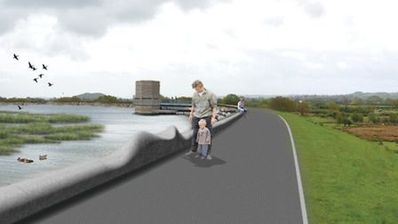Artist's impressions of how some aspects of the new reservoir might look.