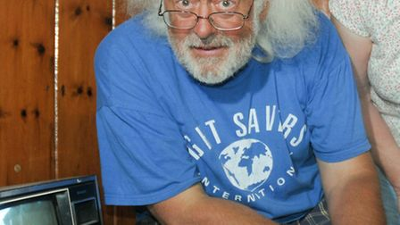 Mick Aston joins a community event at St James Church in Winscombe.