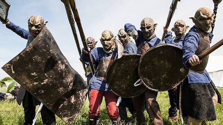 Students prepare to do battle with the orcs.