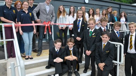 Official opening of new sixth form building by Broadchurch actor Joe Sims.