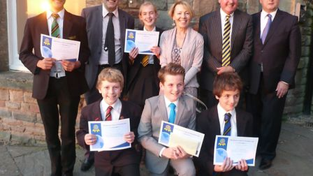The judges, Steve Molloy, Sally Webber, Colin Hall and Alister Christopher, with the prizewinners