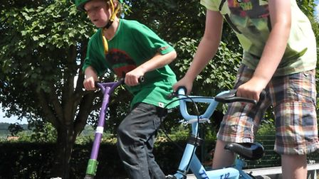 Youngsters enjoyed using the ramps.