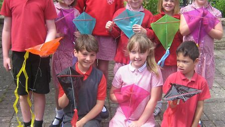 Friendship kite pupils at St Peter's Primary School