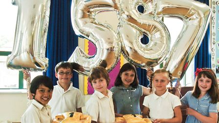 £1587 was the money raised from cake sales.