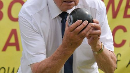 Andy McNabb bowling for St Andrews.