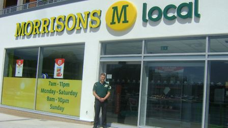 Store manager Matt Cole at the new M Local in Portishead