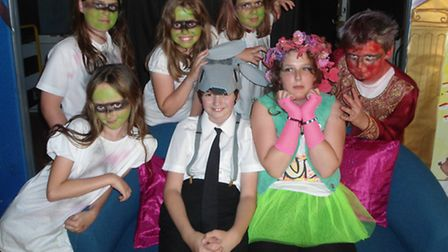 Kingshill pupils in costume for their performance