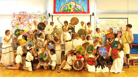 The Ancient Greek wow day at Yeo Moor Primary School