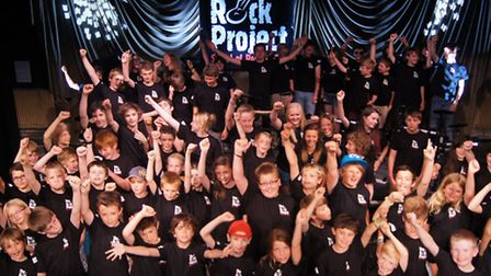 The Rock Project pupils celebrate their success