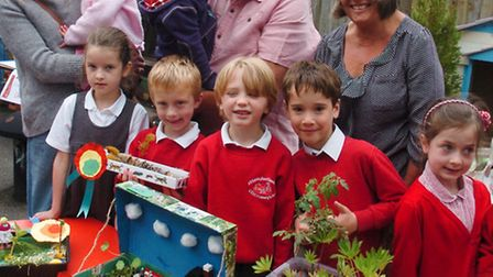 Plant party for Infants children with their show box gardens.