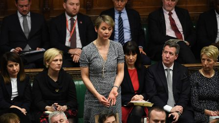 Yvette Cooper in the House of Commons. Photograph: Jessica Taylor/PA.
