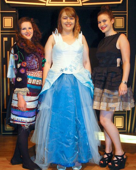 AS Textiles Costume Project. Designers modeling their own designs. Lottie Hocking-Alice in Wonderlan
