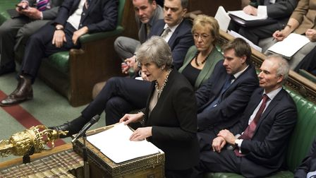 Theresa May in the House of Commons. Photograph: Jessica Taylor/PA.