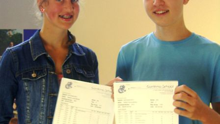 Gordano School GCSE results day: Heather Bragg and Rob March who both had nine A*s amongst their gr