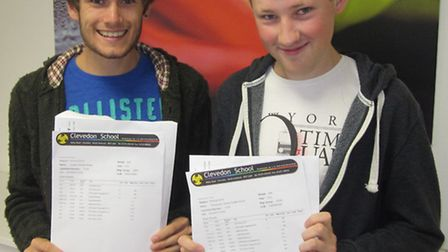 Clevedon School A-level pupils: (left to right) Jordan Hickey and Chris Powell