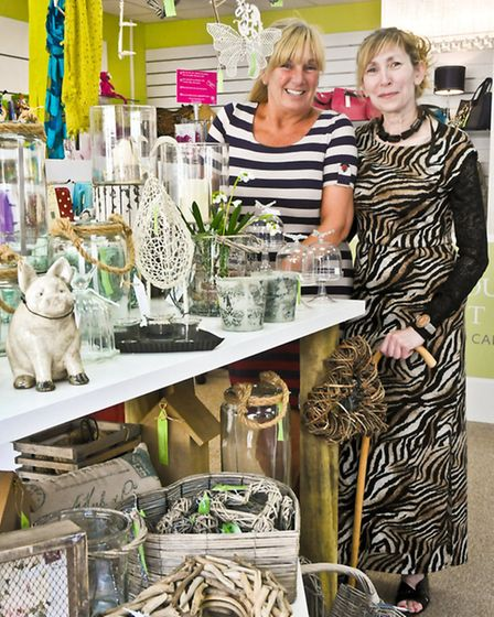Owner Elaine Coles with shop manager Jeni Coles.