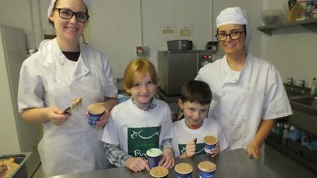 The current ice cream-making facilities at Puxton Park