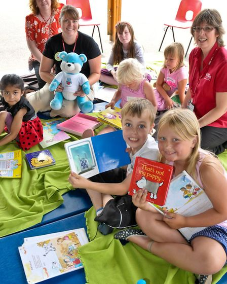 Children Reading with North Somerset Library Service.
